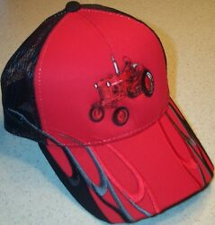 Farmall Cub Embroidered Wave Design Mesh Hat 2 Types