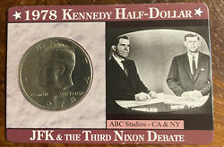 1978 50c Kennedy Half Dollars In Display Card Jfk And The Family Of Mankind Nato