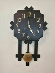 Unique Antique 8 Day Gilbert Mission Wall Clock San Remo Phila Inquirer Works