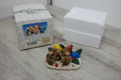 Fitz And Floyd Charming Tails Kiss-mas Lights Figurines 87/205 W/ Box Pre-owned