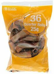 Bazic Quarter Coin Wrappers, 36 Per Pack - 45 Packs