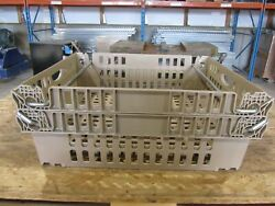 Qty 42 Stackable Meat Smoking Baskets Plastic Storage Bins Totes Crates