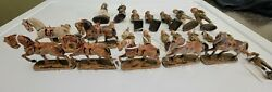 Lot Of Vintage Pre Wwii Elastolin Toy Soldiers And Horses Rare