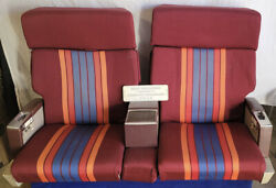United Airlines 1st Class Row 4 Vtg Cloth Airline Seats Aviation Pick-up Only