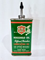 Vintage Lead Top O.k.and039s Household Handy Oiler Advertising Oil Can Rare And Nice