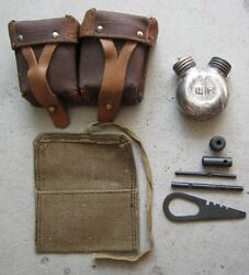 Mosin Nagant Dual Spout Rifle Cleaning Bottle, Ammo Pouch, Tools And Rollup Pouch