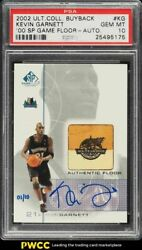 2002 Ultimate Collection Buyback And03900 Sp Game Floor Kevin Garnett Auto /10 Psa 10