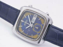 Seiko 7016-5011 Vintage Chronograph Rare Automatic Mens Watch Authentic Working