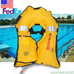 Universal Co2 Automatic Inflatable Life Jacket Pfd Adult Water Survival Vest