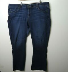 Wit And Wisdom Jeans Womenand039s Plus Size 24w Mid Rise Bootcut Dark Wash
