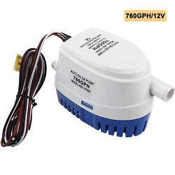 1pc Automatic Submersible Boat Bilge Water Pump 12v 760gph Built-in Float Switch