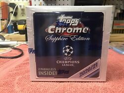 2021 Uefa Champions League Topps Chrome Sapphire Edition Sealed Box-in Hand