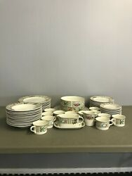 Vintage Mikasa Taglio Summer Jewels Serving 12 Bowl Plate Bread Butter Bowl Cups