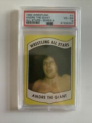 1982 Wrestling All Stars Andre The Giant Series A 1 Psa 4 Rare Andre Card