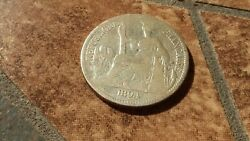 Silver French Indo-china Now Vietnam 1/2 Piastre Coin In Good Condition-1894