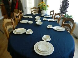Lenox China Brookdale Dinnerware Set For 8 W/3 Serving Pieces        5-5
