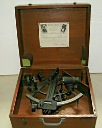 Wwii Nautical Sextant- U.s. Maritime Commission Roth Bros In Original Box 1940's