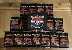 Wotc Pokemon Team Rocket 1st Edition Booster Box And Packs - Empty No Cards Rare