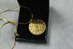 The Souvenir Is Jkd Bruce Lee's Original 24k Gold-plated Necklace And Rare Medal