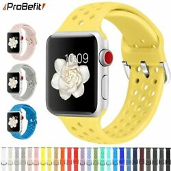 Compatible Rubber Band For Apple Watch 4 5 6 Se 40mm 44mm Soft Silicone Sport