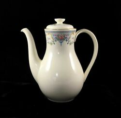 New 1981 Royal Doulton Coffee Pot Juliet Romance Collection England Wedding Gift