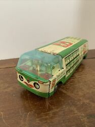 Vintage 1960and039s -70and039s 7up Tin Friction Delivery Truck/van Made In Japan