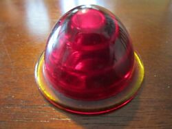 F.a. Smith Vintage Antique Red Glass Lens Tail Stop Light Cover Car 1 5/8