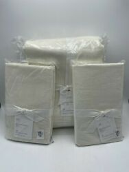New Pottery Barn Belgian Linen Made With Libeco King Duvet And 2 King Shams White