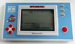 Nintendo Game And Watch Gw Super Mario Bros Ym-105 Handheld Video Game  Mint