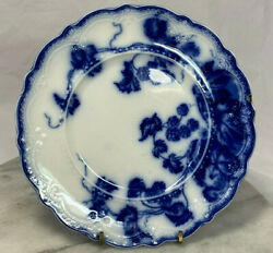 Antique Kenworth Flow Blue By Johnson Brothers Set Of 2 Salad Plates 1900and039s