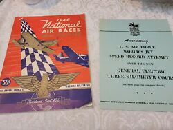 1948 National Air Races Cleveland Official Program And Log W/ Insert Super Rare