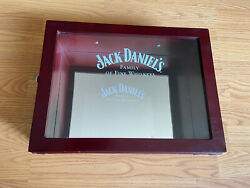Jack Daniels Display Box Family Of Whiskey Mirror Glass Wooden
