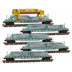 N Micro Trains 993 02 170 Union Pacific Weathered Concrete Tie Loader 5 Pack
