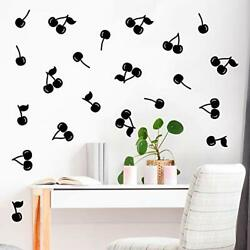 Set of 30 Vinyl Wall Art Decals Cherries from 4quot; to 4quot; Each Modern Cute...