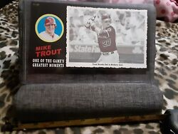 Rare 01 Of 99- Topps Box Topper- Mike Trout Greatest Moments Angels Insert Card
