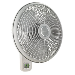 Lasko Wall Mount Fan 16 In. 3-speed Remote Control Oscillating 7-hour Timer New