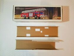 1986 Hess Toy Fire Truck Bank Original Box With Inserts No Truck Just Box