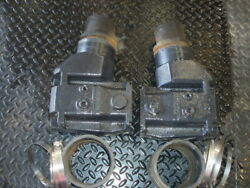 Volvo Penta Exhaust Elbows 3861842 3857944 Pair With Hose And Clamps
