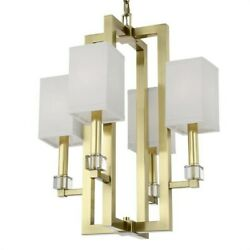 Crystorama Lighting 8884-ag Dixon - Four Light Chandelier In Classic Elegant And