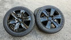 22 Fits Ford F150 Factory Wheels And All Terrain Tires Platinum Gloss Black Rims