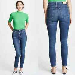 Citizens Of Humanity Olivia High Rise Slim Ankle Jeans Button Fly Circa