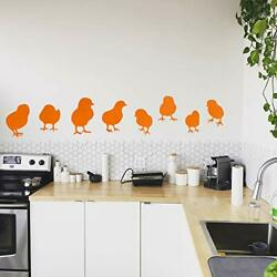 Set of 8 Vinyl Wall Art Decals Baby Chicks From 7quot; To 7quot; Each Cute Char...