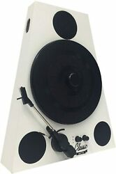 Easygoproducts Vertical Bluetooth Turntable Andndash 3 Speed Record Player Andndash Auto White