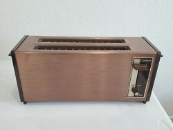 Vintage Mid Century 1951 Copper Sunbeam T-20 516 Kitchen Toaster As Is Read