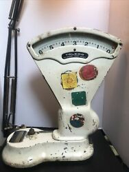 Vtg Toledo 6 Pound Candy Scale Model 407r Ser No 876850 W/provenance From 1950