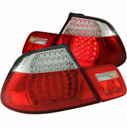 Anzo For Bmw 328i 2007 2008 Tail Lights Led Red Clear 4pc
