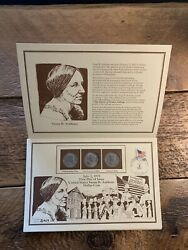 Uncirculated 1979 Susan B Anthony Dollar Coin Set First Day Of Issue P D S Stamp