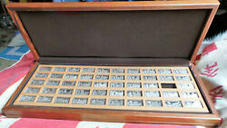 1000 Years Of British Monarchy Medallic Ingots In Sterling Silver John Pinches