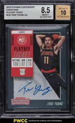 2018 Panini Contenders Playoff Ticket Trae Young Rookie Rc Auto /35 142 Bgs 8.5