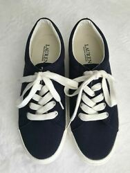 New Womenand039s 9b Lace-up Jolie Canvas Sneaker Shoes Navy Blue